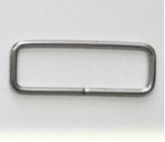 20mm Silber Vierkant-Ring - Rechteckiger Metall-Ringe Vierkantringe