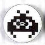 Computervirus Schwarz-Weiß -  Computerviren 2-loch Knopf