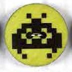 Computervirus Schwarz-Grün -  Computerviren 2-loch Knopf