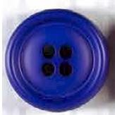 Dicker 4-Loch Knopf - Royalblau