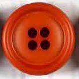 Dicker 4-Loch Knopf - Orange