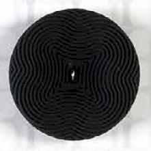 Schwarzer Op-Art Knopf - 2-loch, verschiedene Größen