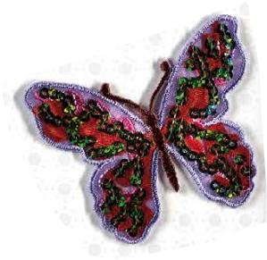 Schmetterlinge mit Pailletten - Bügelapplikationen