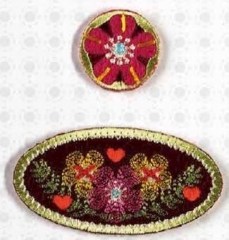 Blumen & Blümchen - Emblem & Kreis Bügelapplikation