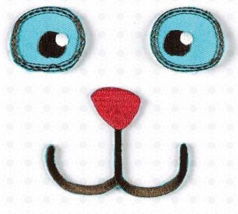 Augen, Nase & Mund - Puppenaugen / Monsteraugen / Teddyaugen Bügelapplikation