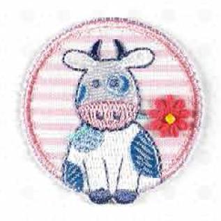 Muh die süße Kuh mit Blümchen - Bügelapplikationen