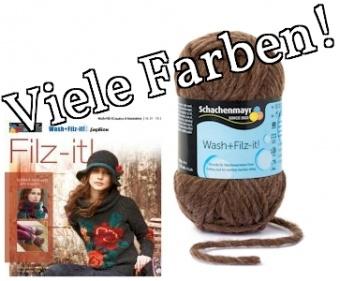 Wash + Filz it - ALLE FARBEN! - Strickgarn zum Filzen von Schachenmayr  SMC
