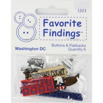 Knopfset Washington D.C. Buttons - Städtereise