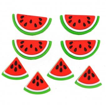 Wassermelonen - Knöpfe - Watermelons Knopf-Set