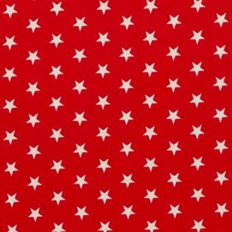 Weiße Sterne auf rotem Grund - Roter Sternchenstoff