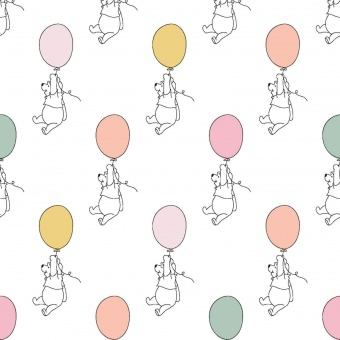 Winnie der Pooh Bär Disneystoff  - Winnie the Pooh Bear Balloon Kinderstoff