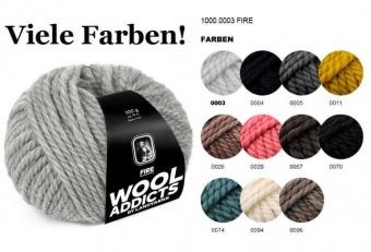 Wooladdicts FIRE Strickgarn - VIELE FARBEN! - Kuscheliges Grobstrickgarn Merino Extrafine - LANG YARNS