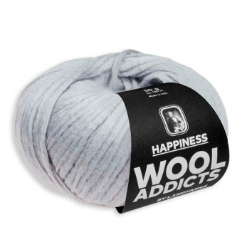 Wooladdicts HAPPINESS Strickgarn - VIELE FARBEN! - Kuscheliges Baumwollgarn - LANG YARNS Silber # 0023