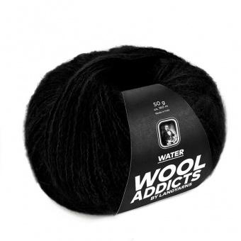 Wooladdicts WATER Strickgarn - VIELE FARBEN! - Kuscheliges Baby Alpaka Handstrickgarn - LANG YARNS Schwarz # 0004
