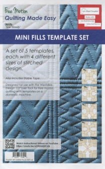 Mini Fills Set - Ruler Foot Templates - Schablonen für Linealfuß / Rulerfuß