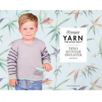 Dino Hunter Sweater Strickanleitung - Jane Burns Kinderpullover - Scheepjes Yarn - The After Party Number 22