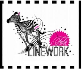 Ink Hexy Rainbow Hexagonstoff - Linework / True Colors Tula Pink Designerstoff - Schwarz-Weiße FreeSpirit Patchworkstoffe