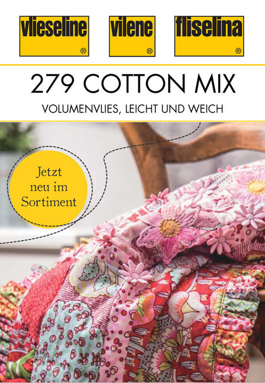 279 cotton mix 80 20 vlies 80 baumwolle 20 polyester volumenvlies. Black Bedroom Furniture Sets. Home Design Ideas