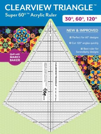 super 60 clearview triangle ruler 30. Black Bedroom Furniture Sets. Home Design Ideas
