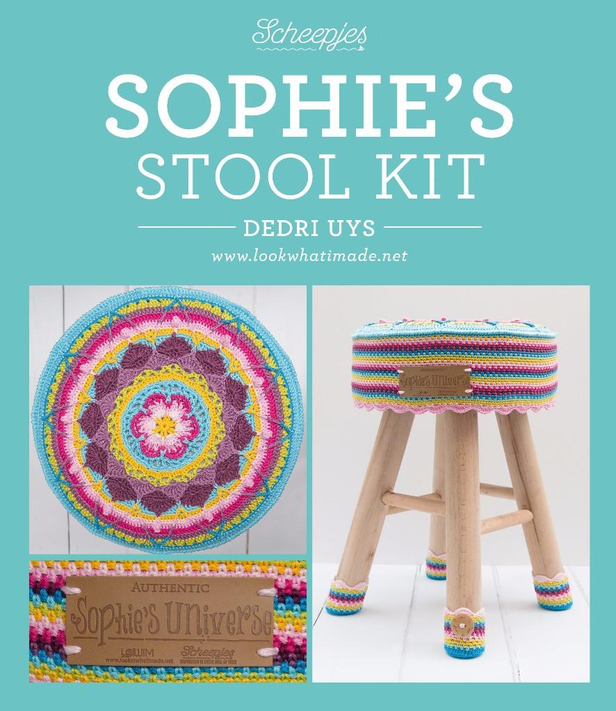 sophies universe stool kit hocker husse materialpackung. Black Bedroom Furniture Sets. Home Design Ideas