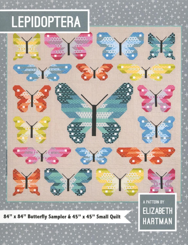 quiltzaubereide  lepidoptera butterfly sampler  ~ Bücherregal Quilt Anleitung