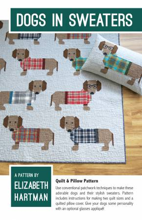 Quiltzauberei.de | Süßer Dackel Quilt - Dogs in Sweaters Pattern by ...