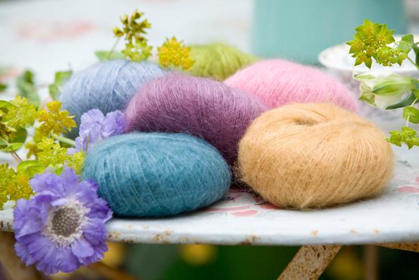 Rowan mohair silk yarn Peacock :Kidsilk Haze #671: