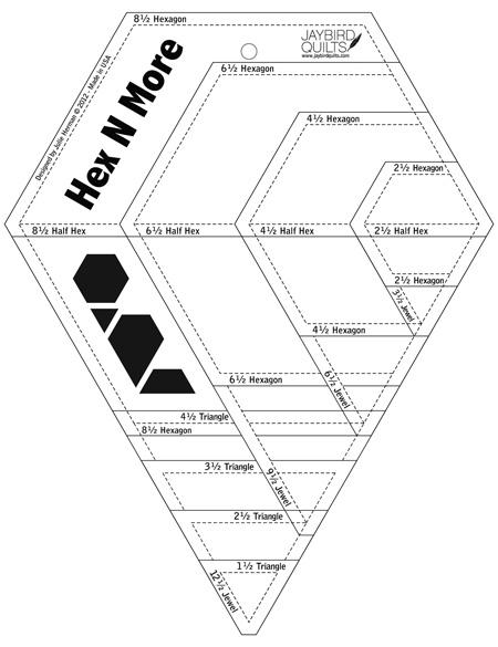 Quiltzauberei.de | Hex N More Sechseck-Lineal - Hex\'N\'More Hexagon ...