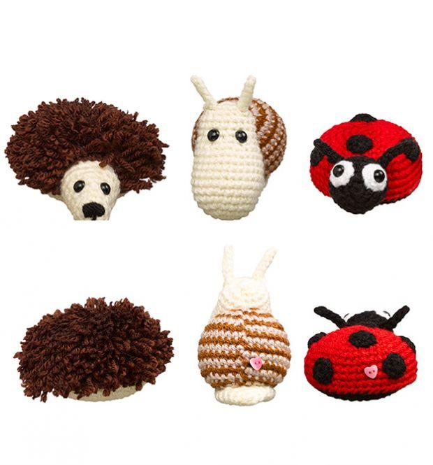 Quiltzaubereide Wollowbies Freche Häkelminis Süße Botschaften