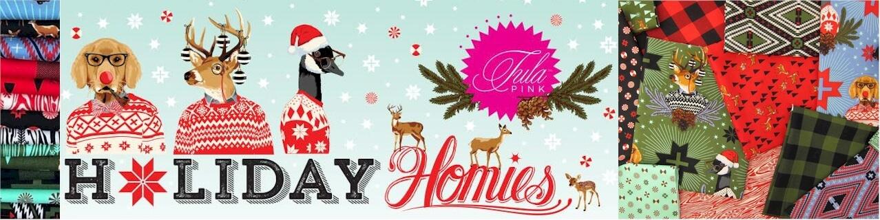 Tula Pink Holiday Homies Banner